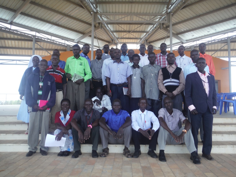 Pilgrims from Arua Archdiocese at wi-Polo during their visit at Martyrs shrine